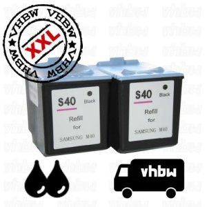 SparSet BUNDLE Tintenpatronen Druckerpatronen Patronen Tinte Refill schwarz black kompatibel für SAMSUNG INK-M40