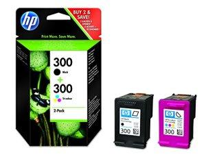 HP 300 2er-Pack Schwarz/Blau/Gelb/Rot Original Druckerpatrone für HP Deskjet, HP ENVY, HP Photosmart
