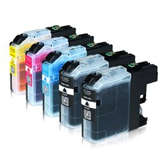 5 Tintenpatronen für Brother LC-223 XXL LC-225 LC-227, MFC-J4420DW MFC-J4620DW 4-in1, DCP-J4120DW MFC-Ink, MFCJ5320DWG1 MFC-InkFaxA3, Schwarz je 20ml, Color je 13ml