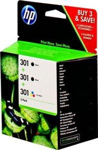 HP 301 Original 3 Druckerpatronen Multipack Blau/Gelb/Rot/2x Schwarz für HP Deskjet, HP Envy, HP Photosmart