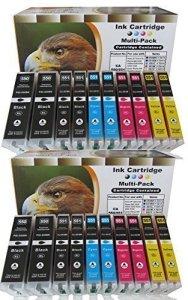 20 komp. XL Tintenpatronen mit Chip für Canon Pixma MG 5450 5450s 5550 6350 6450 7150 / Canon Pixma MX 725 925 MX925 MX725 / Canon Pixma ip7250 ip8750 / Canon Pixma ix6850 4 x schwarz Canon PGI-550BK XL / 4 x photoschwarz Canon CLI-551BK XL / 4 x cyan Canon CLI-551C XL / 4 x magenta Canon CLI-551M XL / 4 x yellow Canon CLI-551Y XL