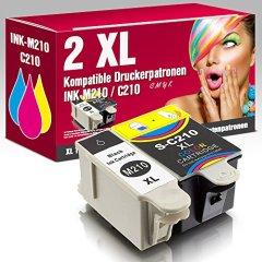 2 kompatible Druckerpatronen für Samsung CJX-1000 CJX-1050W CJX-2000FW Patronen kompatibel zu INK-M210 INK-C210 INK-M215 ms-point®