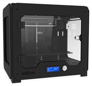 BQ 04BQWIT02 WitBox 3D Drucker, einzigen Extruder, PLA/HIPS/FilaFlex, Schwarz