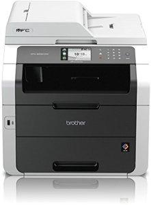 Brother MFC-9332CDW Kompaktes 4-in-1 LED Farb-Multifunktionsgerät (Drucken, scannen, kopieren, faxen, 2.400x600dpi, USB 2.0 Hi-Speed, LAN/WLAN, Duplex) weiß/schwarz