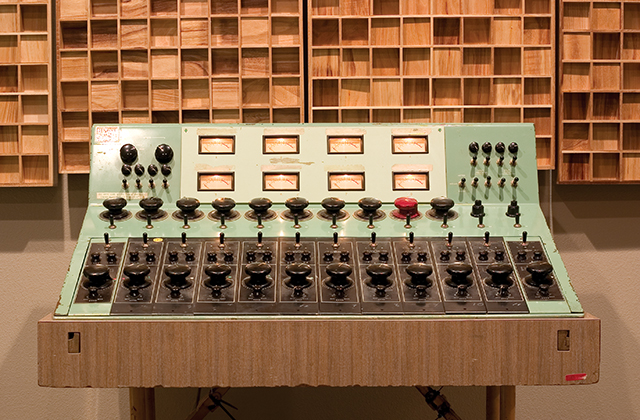 Fig. 1 A 610 Console. Before mass-produced audio equipment was widely available, Bill Putnam was building hardware for live and studio recording. (Photo Courtesy of Universal Audio, Inc.)
