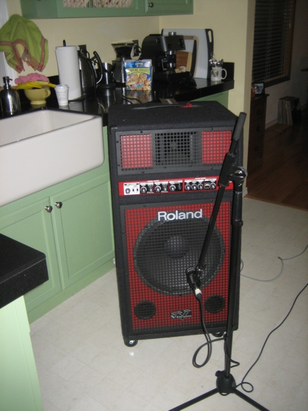 FIG. 1. We chose the kitchen as the amp room because of the sound isolation it provided