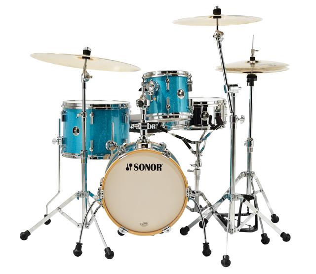 Sonor Martini 4pc Drum Set Turquoise Galaxy Sparkle : Drum Center ...