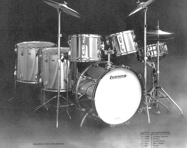 Vintage Stainless Steel Drum Kits A Brief History