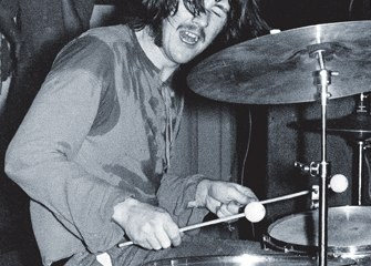 ID#:  ZepB_07  John Bonham - The New Yardbirds (to become Led Zeppelin ) Copenhagen, Sep. 7, 1968 - The first performance ever.  ©Jorgen Angel  www.angel.dk