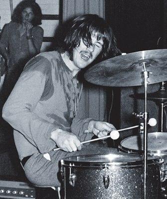 ID#:  ZepB_07  John Bonham - The New Yardbirds (to become Led Zeppelin ) Copenhagen, Sep. 7, 1968 - The first performance ever.  ©Jorgen Angel  www.angel.dk