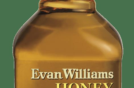 A bottle of Evan Williams Honey Reserve