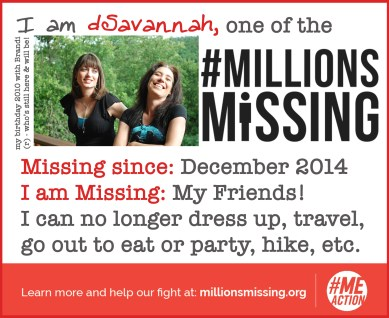 I'm one of the #MillionsMissing - and I'm missing my friends