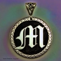 Hand Engraved Silver Pendant