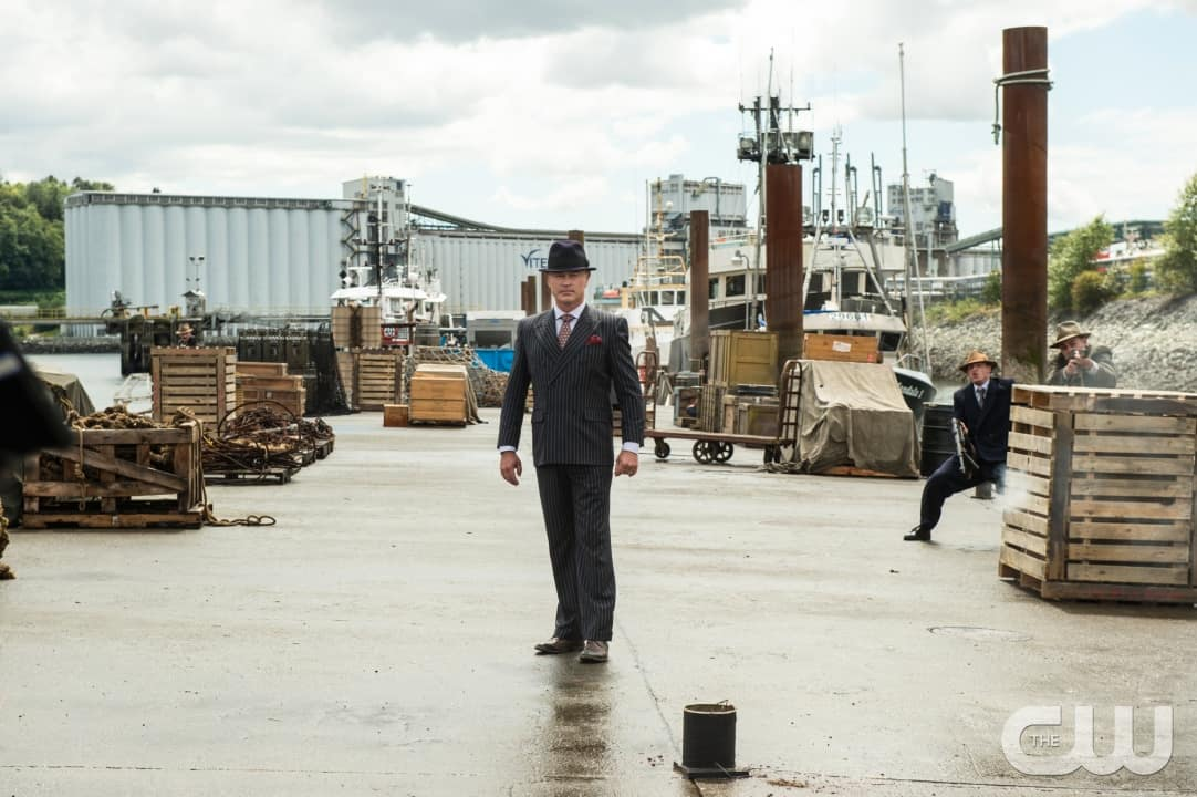 """DC's Legends of Tomorrow --""""Out Of Time""""-- Image LGN201A_0155.jpg Pictured: Neal McDonough as Damien Darhk -- Photo: Diyah Pera/The CW -- © 2016 The CW Network, LLC. All Rights Reserved."""