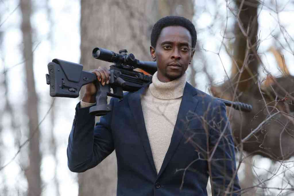 "THE BLACKLIST: REDEMPTION -- ""Hostages"" Episode 106 -- Pictured: Edi Gathegi as Matias Solomon -- (Photo by: Will Hart/NBC)"