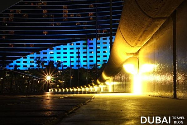 jumeirah beach hotel night photo