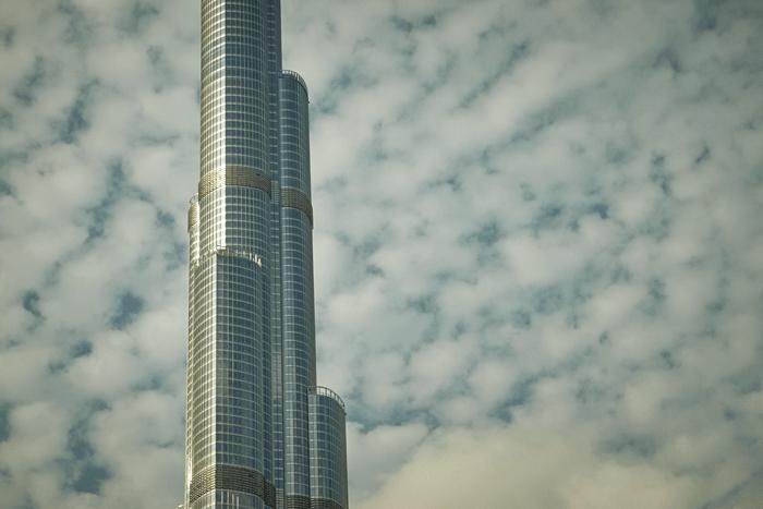 close up of burj khalifa