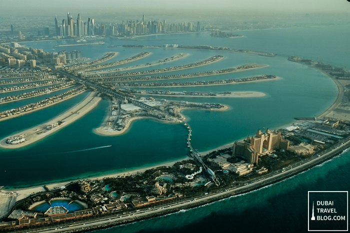 palm jumeirah aerial photo