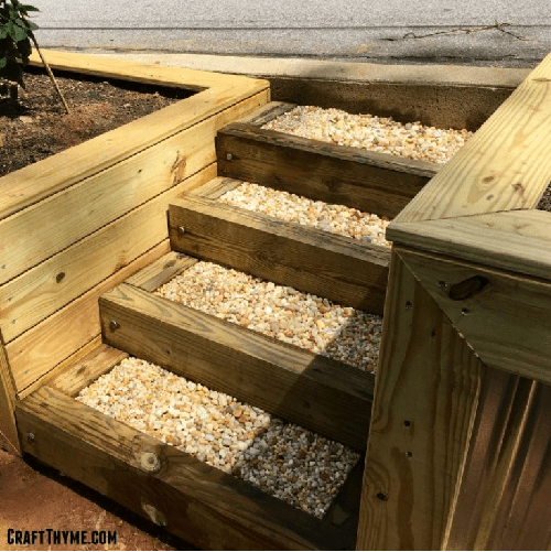 DIY home and garden tips on how to make pea gravel stairs