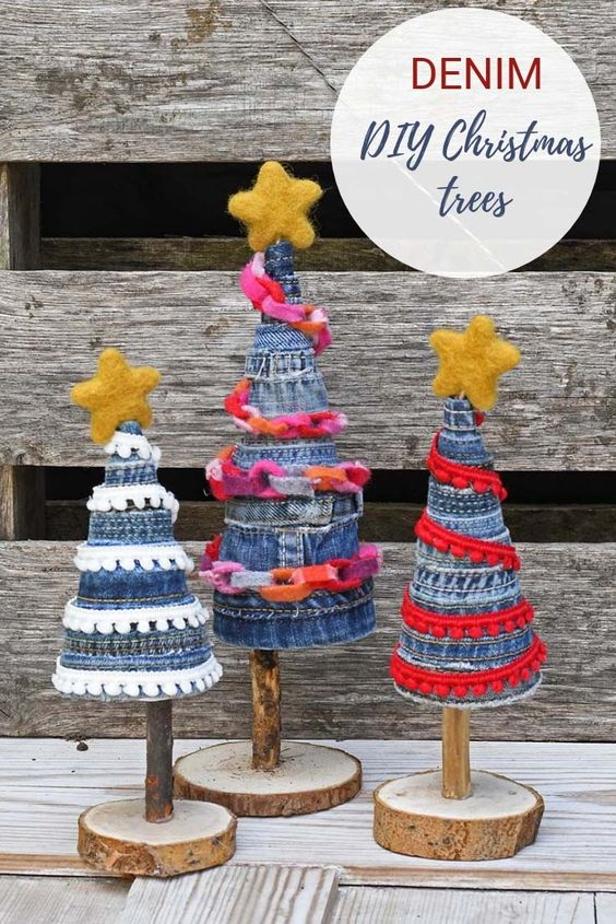Denim Christmas Trees