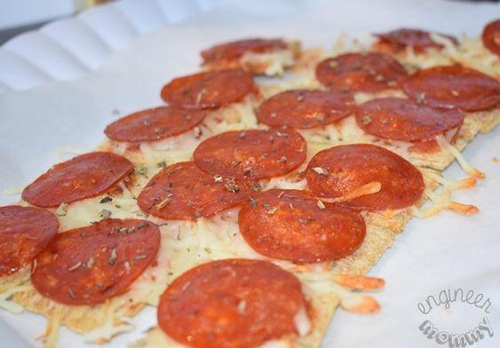 Pepperoni pizza Trisket tray