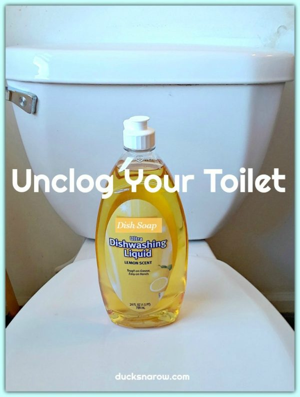 Super easy way to unclog your toilet #tips