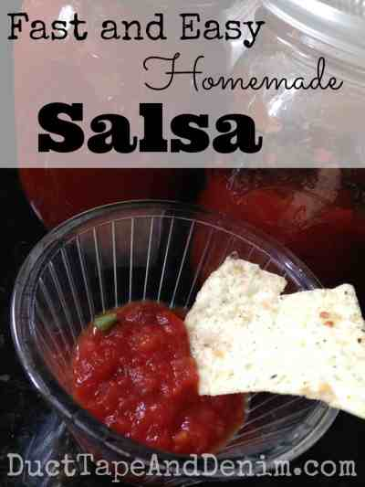 Fast easy homemade salsa | DuctTapeAndDenim.com