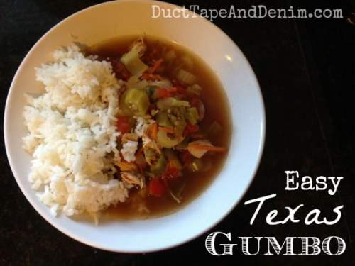 Easy Texas gumbo and other soup and stew recipes on DuctTapeAndDenim.com