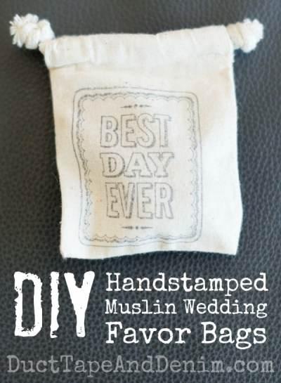 Wedding Favor Muslin Bags : ... family wedding diy handstamped muslin wedding favor bags these