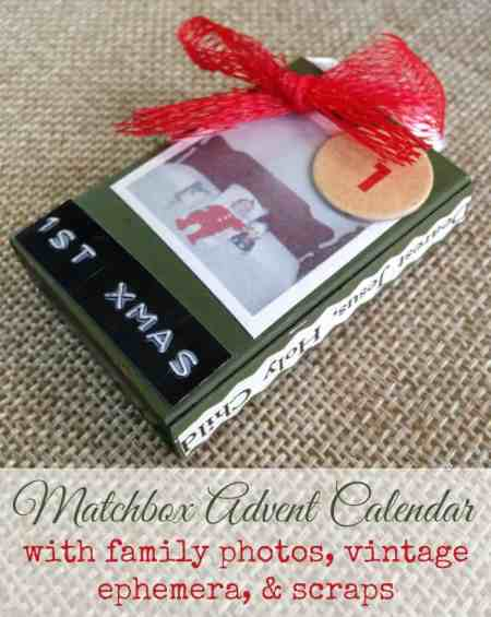 Diy Matchbox Advent Calendar : Diy matchbox advent calendar