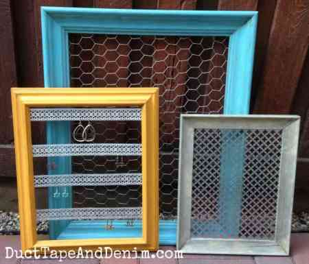 Thrift Store Makeover Frames To Diy Jewelry Display