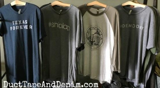 #shiplap #demoday Texas Forever & Magnolia Farms t-shirts | DuctTapeAndDenim.com