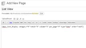 DukaPress List View - the shortcode