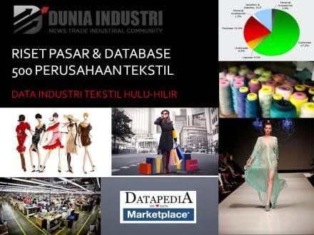 """<span itemprop=""""name"""">Riset Pasar dan Database 500 Perusahaan Tekstil (Data Industri Tekstil Hulu-Hilir)</span>"""