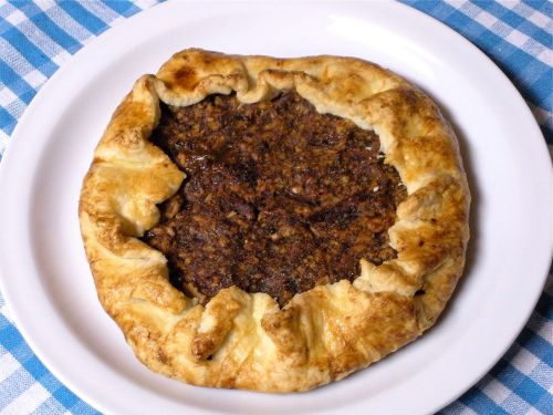 Date and Walnut Galette-Duo Dishes