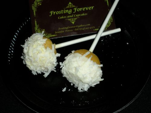 Frosting Forever:  Pina Colada Cupcake Pops with Rum