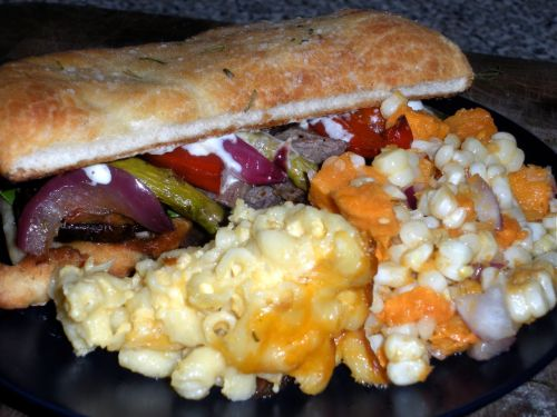 Steak Sandwiches &amp; Sweet Potato Corn Salad-Duo Dishes