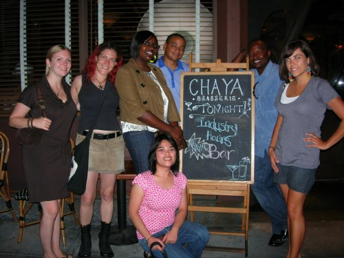 LA food bloggers at Chaya Brasserie-Duo Dishes