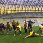 Mecz Piłki Blożnej podczas Blog Forum Gdansk 2012