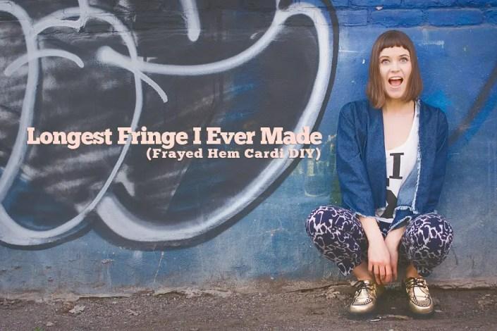 Back To Fringes: Frayed Hem Denim Cardigan DIY