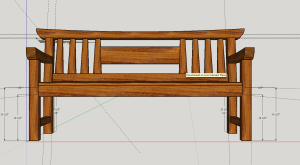 Screenshot of Pine Japanese Garden Bench