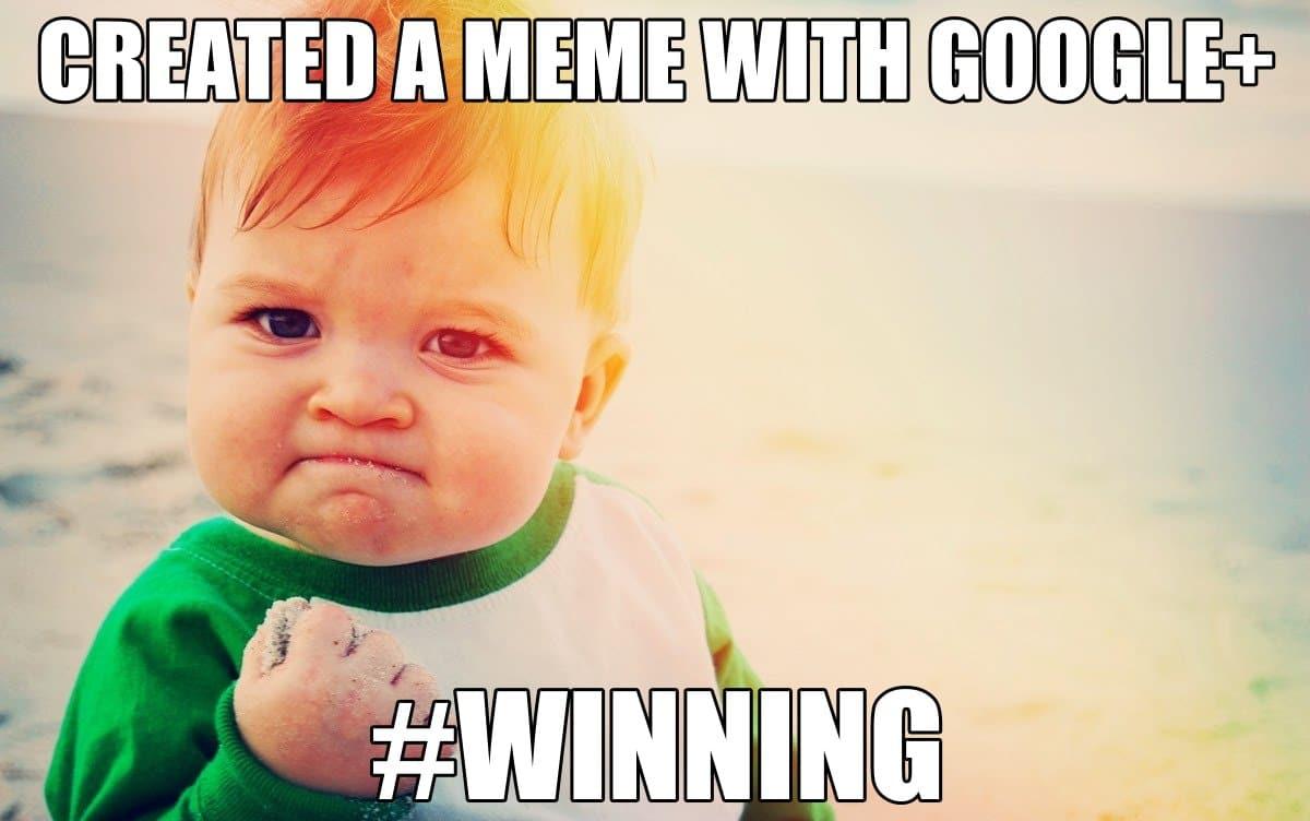 baby google+ meme