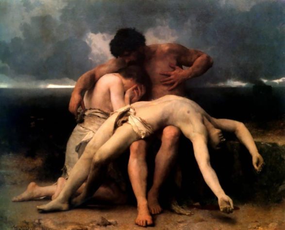 Bouguereau, The First Mourning, Cain and Abel, 1888