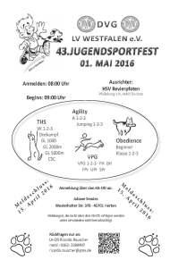 Einladung Jugendsportfest 2016
