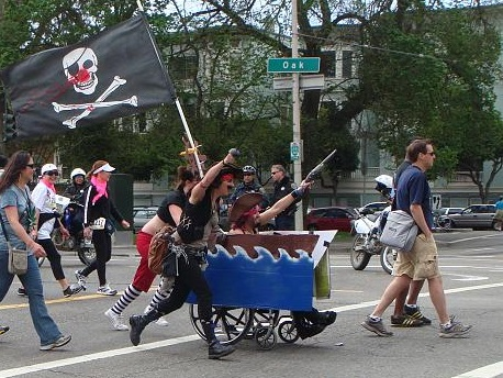 Pirate ship wheelchair costume