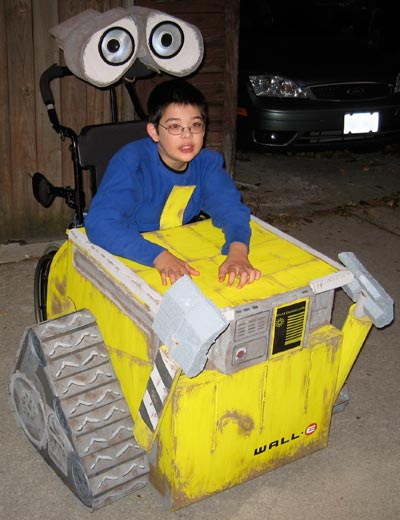 Wall-E wheelchair costume