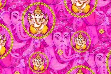 bejewelled ganesh on fuchsia-featured