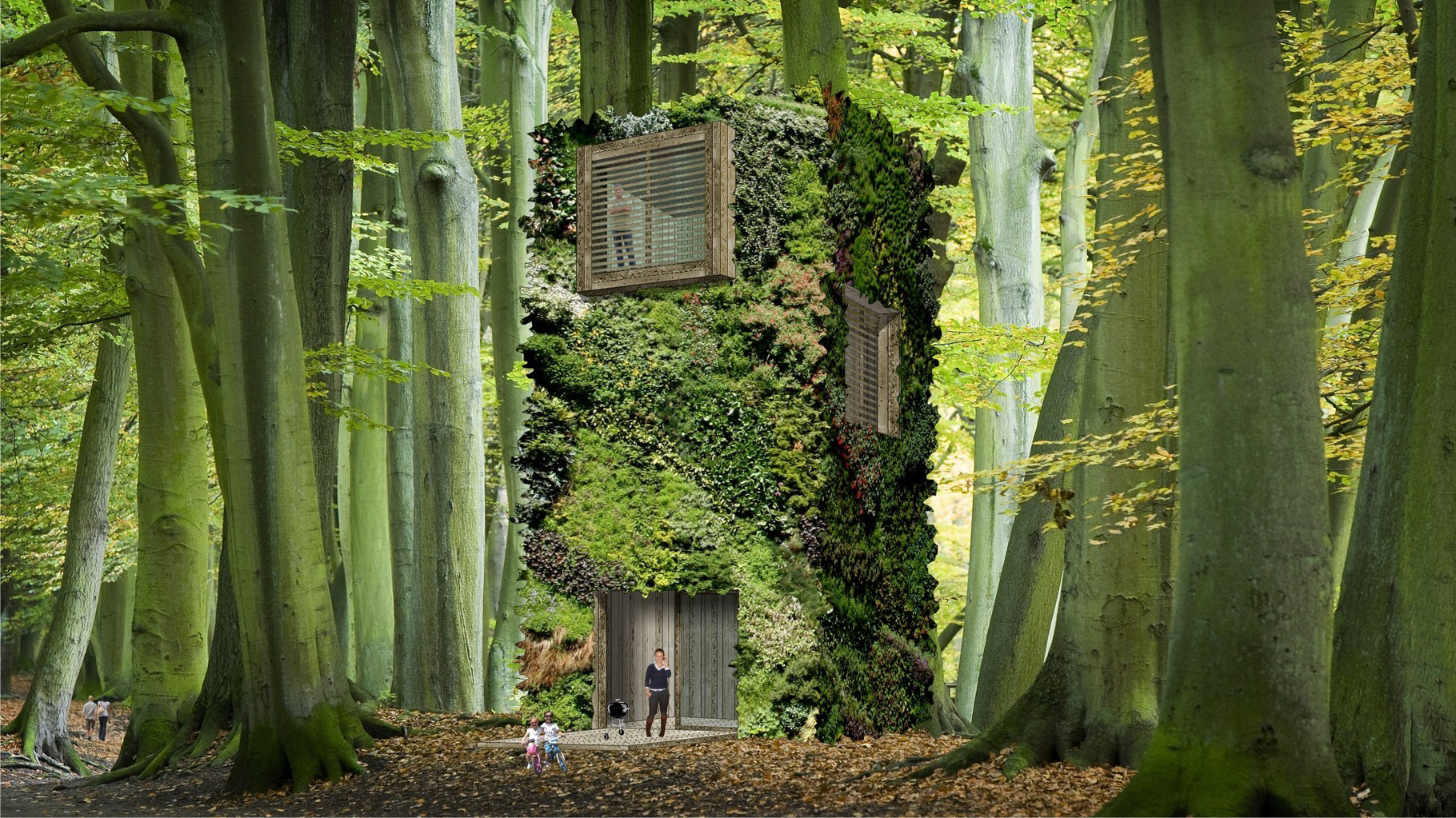 Architecture answers to the human need to become one with Architecture nature