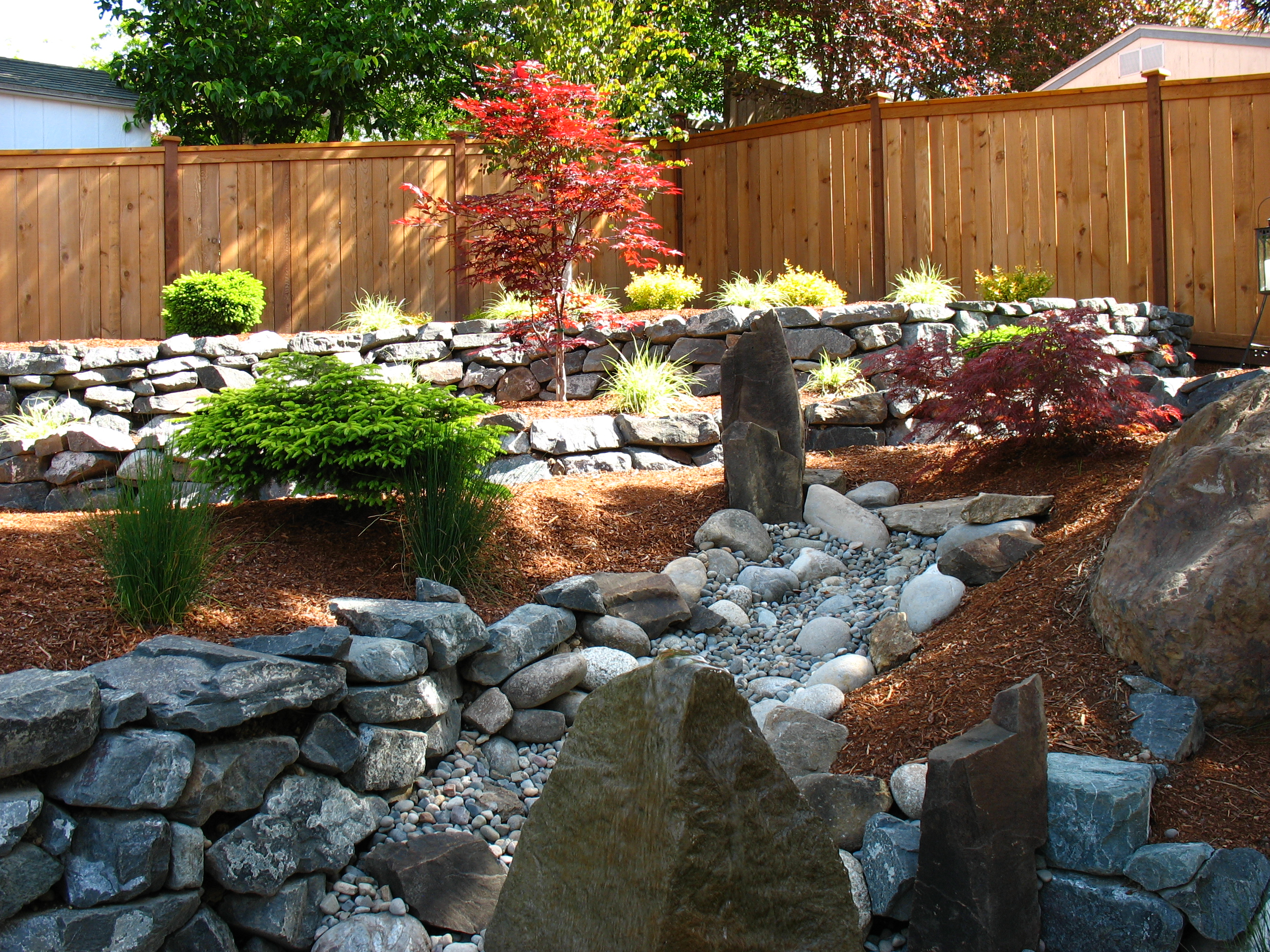 Landscaping dzingle 39 s landscaping llc serving the for Landscaping rocks seattle