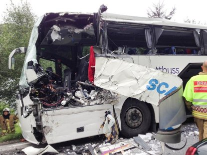 Two dead, several injured in Norway bus crash